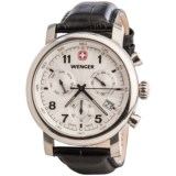 Wenger Urban Classic Chronograph Watch - 43mm, Leather Strap
