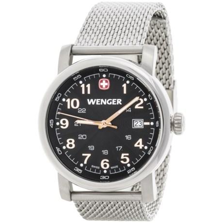 Wenger Urban Analog Watch - 41mm, Stainless Steel Mesh Bracelet