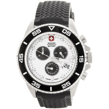 Wenger Basel Chronograph 43mm Watch - Rubber Strap