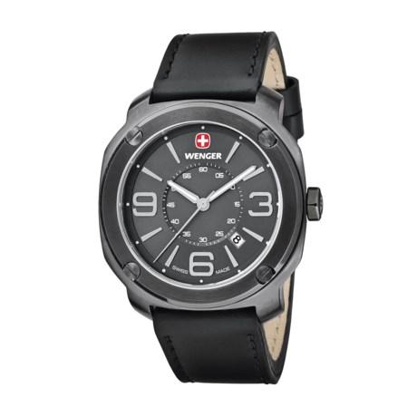 Wenger Escort Swiss Quartz Analog Watch - 43mm, Leather Strap