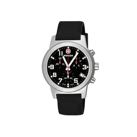 Wenger Field Chronographic Large Swiss Quartz Watch - Rubber Strap