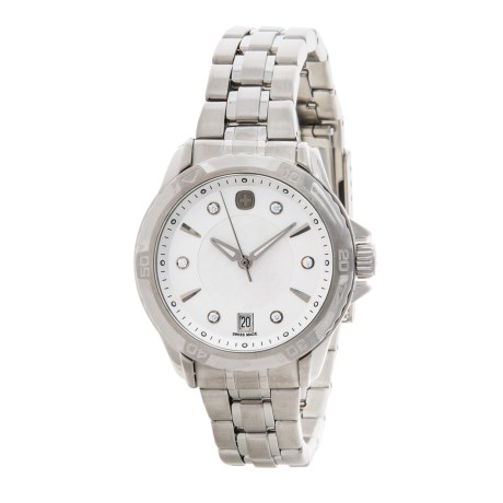 Wenger Swiss Military GST Mother-of-Pearl Swiss Quartz Watch - Stainless Steel Bracelet (For Women)