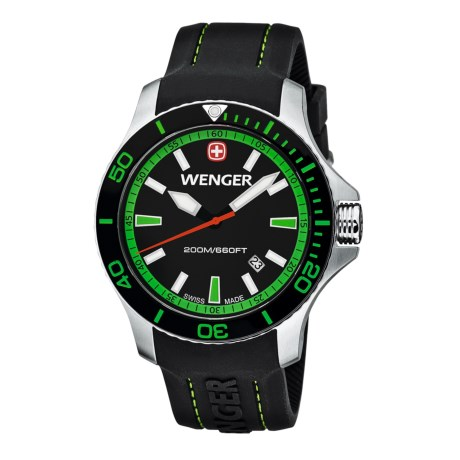 Wenger Seaforce Swiss Quartz Watch - 43mm, Rubber Strap