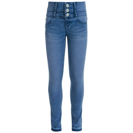 Squeeze Extended Waist Skinny Jeans (For Big Girls)