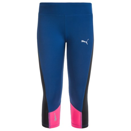 Puma Solid Active Capris (For Big Girls)