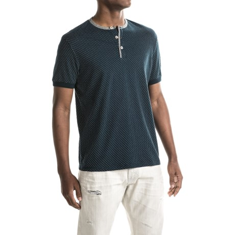 Report Collection Dot Henley Shirt - Short Sleeve (For Men)