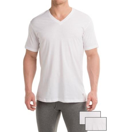 Penguin Cotton V-Neck T-Shirt - 3-Pack, Short Sleeve (For Men)