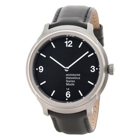 Mondaine Helvetica No. 1 Bold Watch - Leather Strap (For Men)