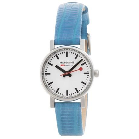 Mondaine Evo Petite Watch - Leather Strap (For Women)