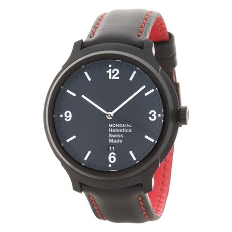 Mondaine Helvetica No.1 New York Edition Watch - Leather Strap (For Men and Women)