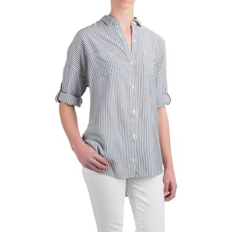 JACHS NY Erin Oversized Shirt - Rayon, 3/4 Sleeve (For Women)