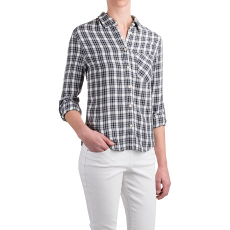JACHS NY Ariel Pocketed Button-Back Shirt - Rayon, Long Sleeve (For Women)