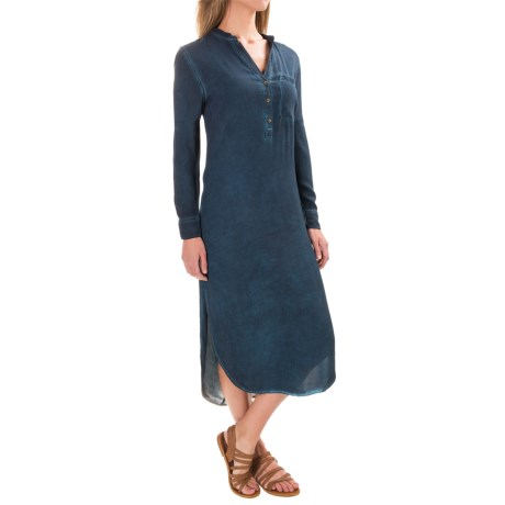 JACHS NY Hilary Popover Half Placket Dress - Long Sleeve (For Women)
