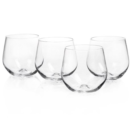 Home Essentials & Beyond Home Essentials Cellini Premium Stemless Wine Glasses - 15 fl.oz., Set of 4