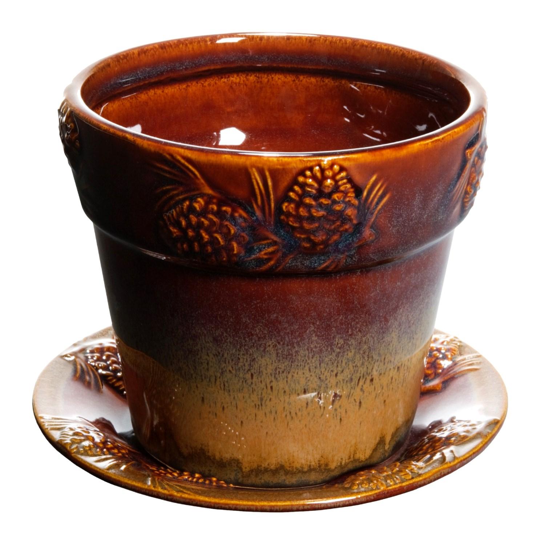 Big Sky Carvers Ceramic Flower Pot Small 2178D Save 48%