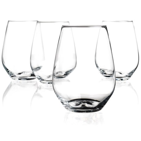 Home Essentials & Beyond Home Essentials Cellini Premium Stemless Wine Glasses - 18 oz., Set of 4