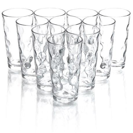 Home Essentials & Beyond Home Essentials Eclipse Highball Cooler Glasses- 17 fl.oz., Set of 10