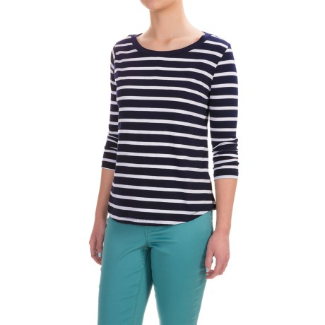 Workshop Republic Clothing Stripe Shirt - 3/4 Sleeve (For Women)
