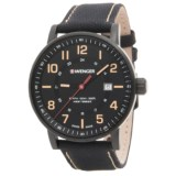 Wenger Attitude Oversized Dial Watch - 43mm, Nylon-Leather Strap