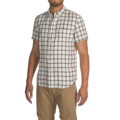 Timberland Linen Cargo Shirt - Short Sleeve (For Men)
