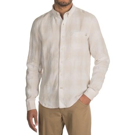 Timberland Linen Ombre-Plaid Cargo Shirt - Long Sleeve (For Men)
