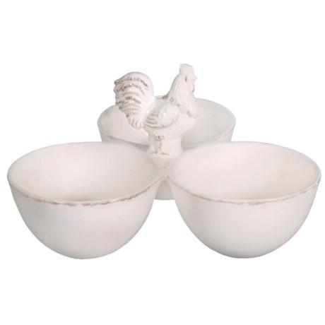 Home Essentials & Beyond Home Essentials 3-Bowl Rooster Snack Caddy - Ceramic