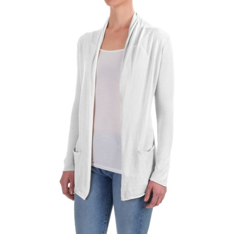 Workshop Republic Clothing Open-Front Cardigan Shirt - Long Sleeve (For Women)