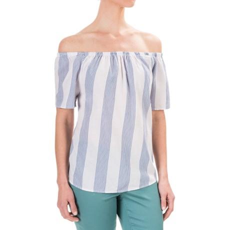 Workshop Republic Clothing Yarn-Dyed Woven Cotton Shirt - Short Sleeve (For Women)