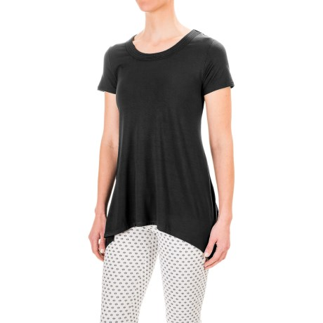 Chelsea & Theodore Scoop Neck Shirt - Rayon, Short Sleeve (For Women)