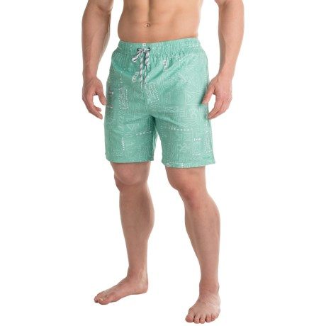 Maui & Sons Maui and Sons Element Tapa Swim Trunks - Built-In Briefs (For Men)
