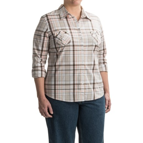 Jane Ashley Plaid Woven Shirt - Long Sleeve (For Women)