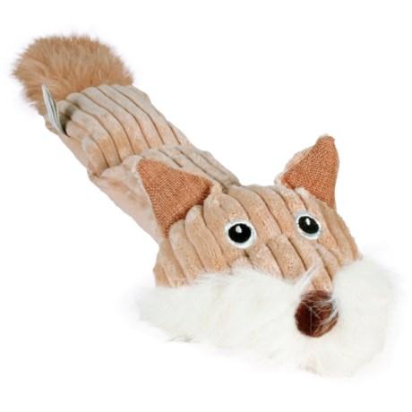 Hyper Pet Cozy Critter Skinz Fox 2 Squeaker Dog Toy
