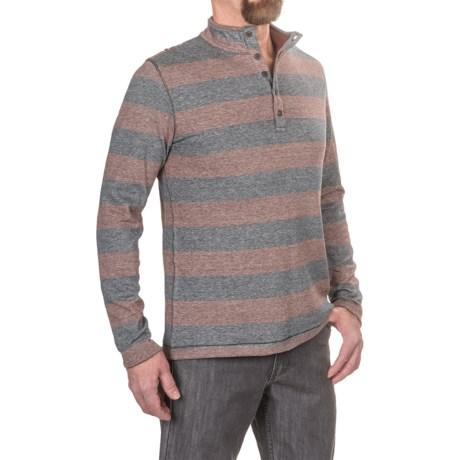 Jeremiah Victor Mock Neck Henley Shirt - Long Sleeve (For Men)
