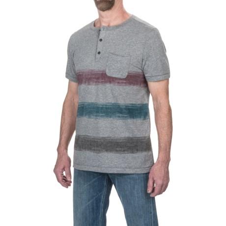 Jeremiah Foster Striped Henley Shirt - Short Sleeve (For Men)