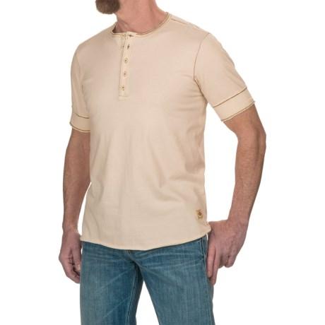 Jeremiah Cotton Jersey Henley Shirt - Short Sleeve (For Men)
