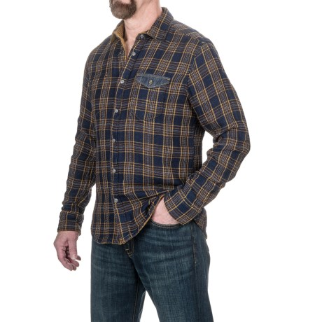 Jeremiah Hayes Indigo Reversible Shirt Jacket - Snap Front, Long Sleeve (For Men)