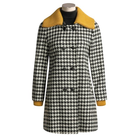 Katherine Barclay Houndstooth Coat - Wool-Rich (For Women)