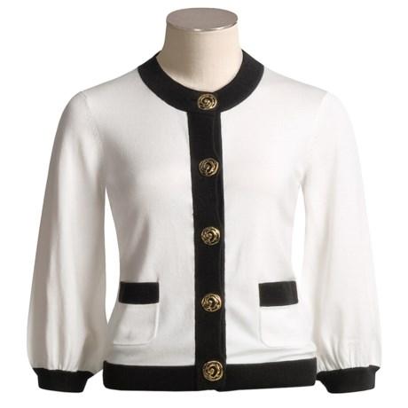 Katherine Barclay Cardigan Sweater - 3/4 Sleeve (For Women)