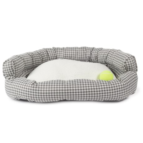 "LA TI PAW La Ti Paw Double-Bolster Couch Dog Bed - 28x23"""