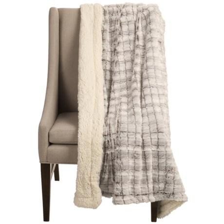 "Blue Ridge Home Fashions Elle Home Sherpa Throw Blanket - 50x60"""