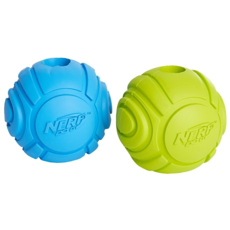 Nerf Dog Rubber Sonic Ball Dog Toy - 2-Pack