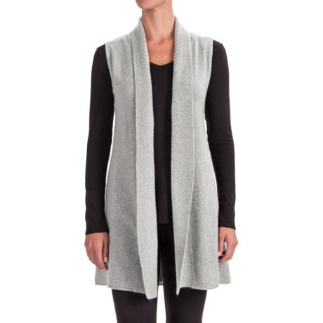 Cynthia Rowley Cashmere Cardigan Sweater -  Sleeveless (For Women)