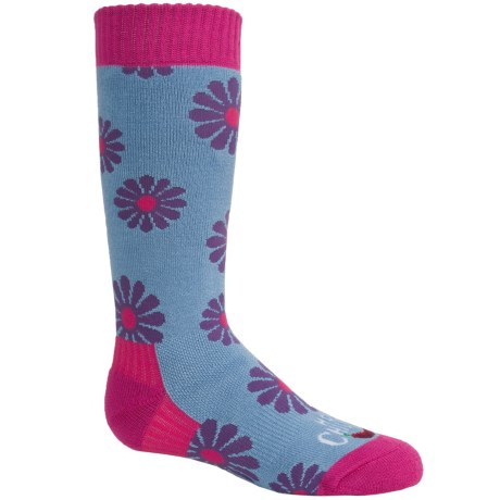 Hot Chillys Flirty Midweight Ski Socks - Over the Calf (For Little and Big Kids)