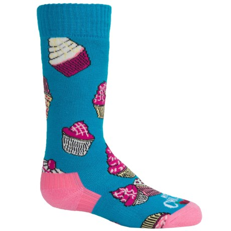 Hot Chillys Cupcakes Midweight Ski Socks - Over the Calf (For Little and Big Kids)