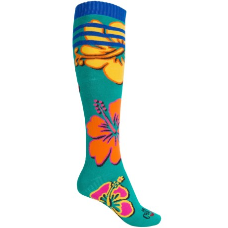 Hot Chillys Gidget Midweight Ski Socks - Over the Calf (For Women)