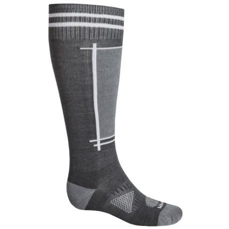 Le Bent Definitive Light Ski Socks - Rayon-Merino Wool, Over the Calf (For Men and Women)