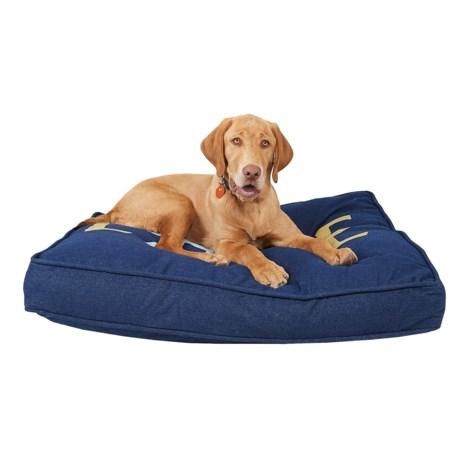 "Live Love Bark Love Dog Rectangle Dog Bed - 36x27"", Large"