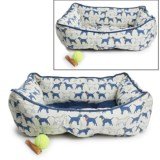 Humane Society Dogs in Hats Reversible Lounger Dog Bed - 28x22""