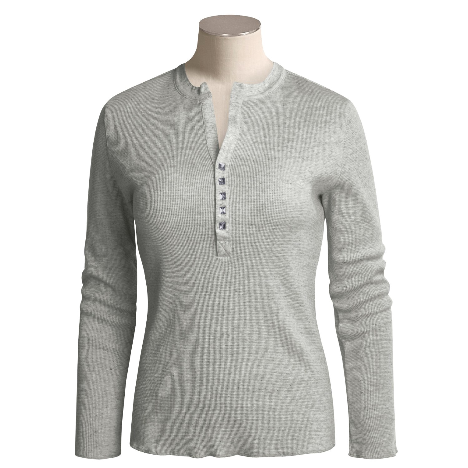 True grit thermal henley shirt for women 2193m save 52 for Women s cotton henley shirts