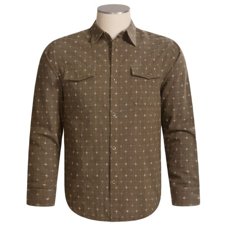 True Grit Cross-Stitch Shirt - Cotton, Long Sleeve (For Men)